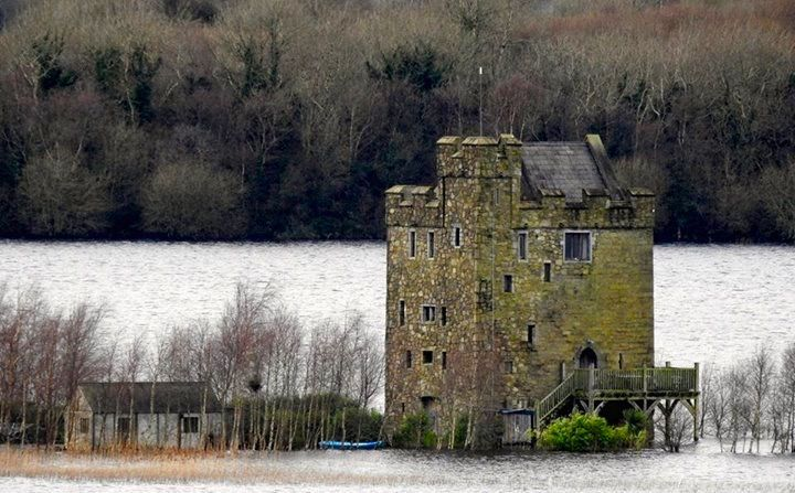 Castlebawn on Lough Derg is a beautifully restored Tower House. Unfortunately it has been flooded as the River Shannon rose due to the recent stormy weather. In this photo it looks like it is sinking into Lough Derg. http://imgur.com/nrzSwhW (28.12.15)