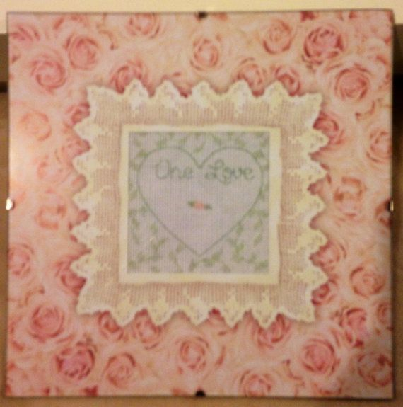 Completed Cross Stitch in Glass Delicate Rose by dannileifer, $24.99