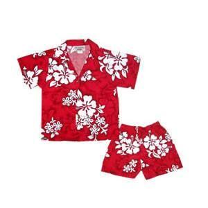 Seastar Red Hawaiian Boy Cabana Shirt & Shorts Set   #hawaiianshirts #alohashirt #vintagehawaiianshirts #cheaphawaiianshirt #hawaiianshirt #boyhawaiianset #boyhawaiianshirt