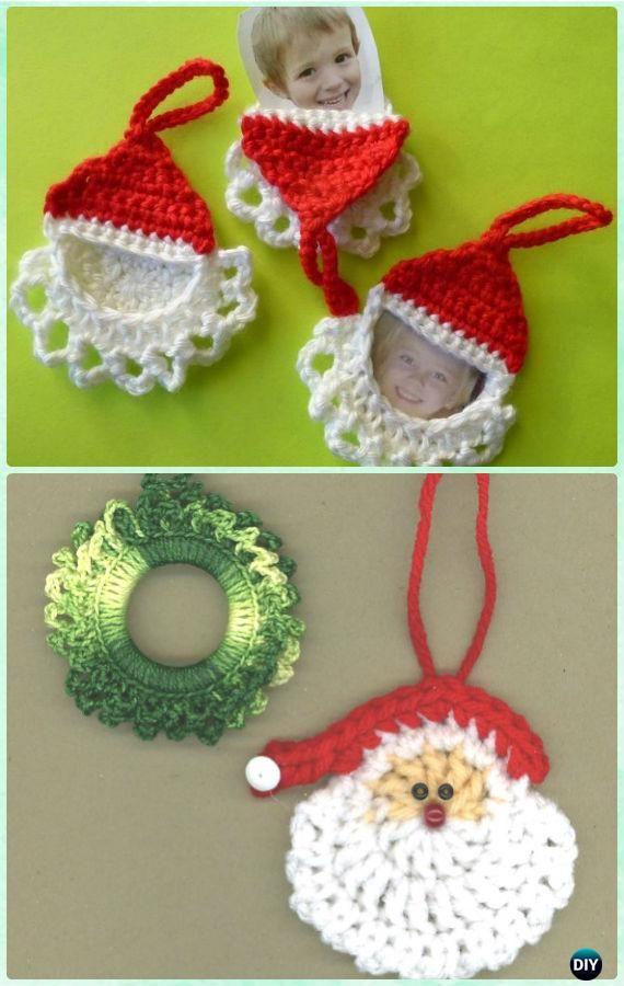 DIY Crochet Santa Ornament Free Pattern  - #Crochet Christmas #Ornament Free Patterns