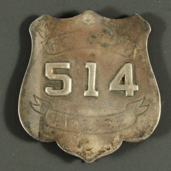 Antique Houston Police Badge