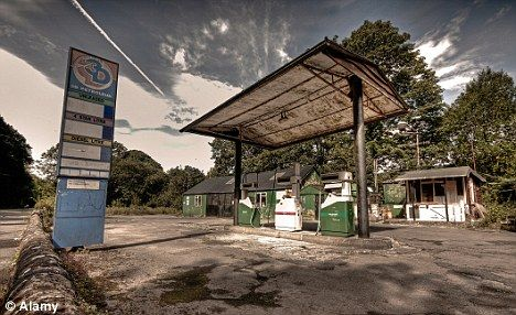 Old petrol station