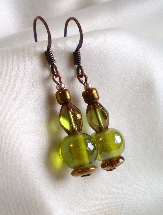 Copper green spring delicate by EachBeadCounts on Etsy