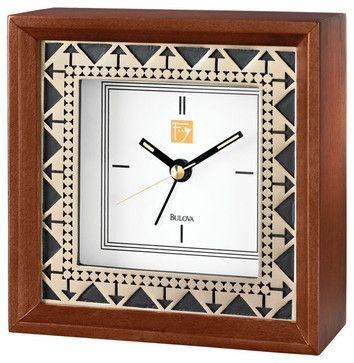 Frank Lloyd Wright Beth Shalom Alarm Clock craftsman-alarm-clocks | Houzz.com $58 - beautiful for my bedside table! <3