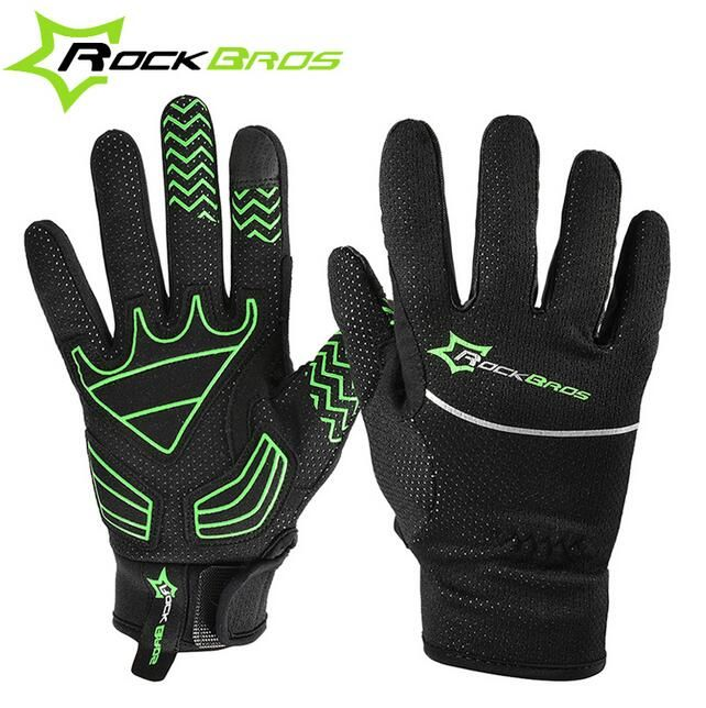 RockBros Cycling Gloves Men Full Finger Winter Windproof Touch Screen Gloves For Bicycle Mtb Mountain Bike Cycle Gloves
