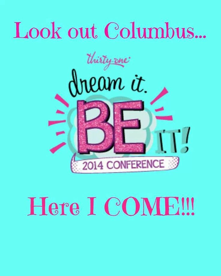 I am so excited to be headed to Columbus for my very 1st National Conference! A week with some of my favorite ladies!! Thank you thirty-one for paying my way!