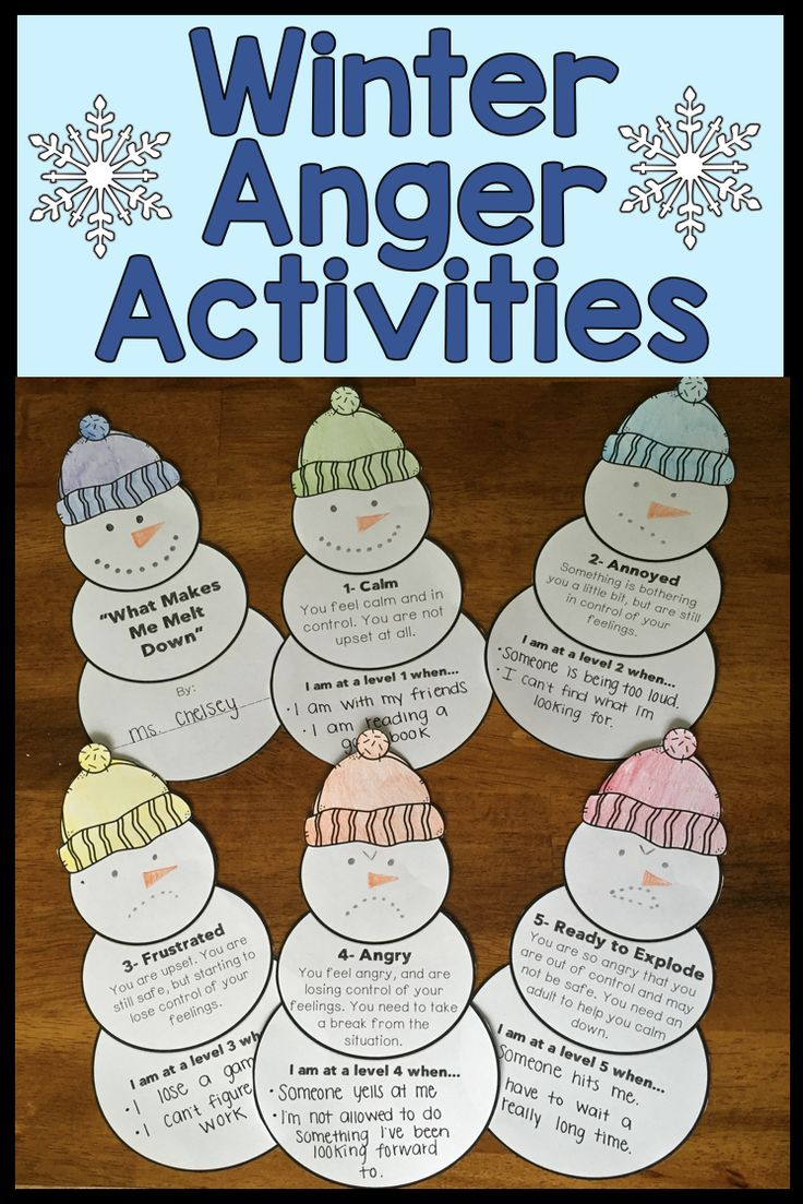 8 anger management activities with a fun winter theme. Students will learn to recognize their anger, learn their anger triggers, and practice coping skills with these activities.