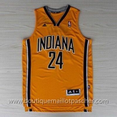 maillot nba pas cher Indiana Pacers George #24 Jaune nouveaux tissu 22,99€