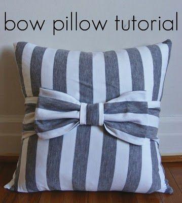 bow pillow tutorial: Craft, Pillow Tutorial, Bow Pillows