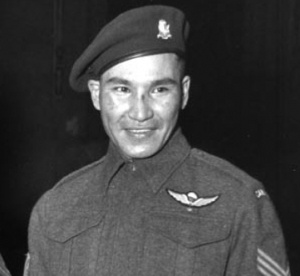 "Tommy Prince a Canadian hero who fought in WW2 and Korea. He was the most decorated aboriginal soldier who has ever lived. He fought to prove that ""his people"" are equal and as good as the next."