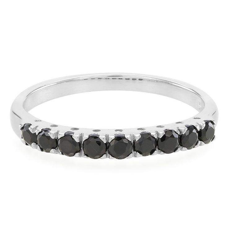 Zilveren ring met zwarte spinelstenen - prachtig ontwerp. Vakmanschap tegen scherpe prijzen. Direct van de fabrikant. Met certificaat van echtheid.