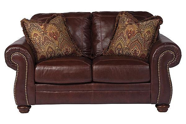ashley furniture leather loveseat 1