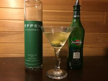 Part 3 of 4 with Effen Cucumber Vodka: Dirty Cucumber Martini