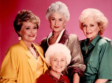 The Golden Girls.  What you need:  -> three friends  -> a thrift shops with fugly-ugly 80s one-colour dresses  -> shoulder pads a must   -> clunky clip-on earrings  -> classic 80s wig (or a great hairdresser friend)  -> Estelle was also known to wear large circle glasses with a chain.    And finally,  -> learn the theme song: 'Thank you for being a friend....'