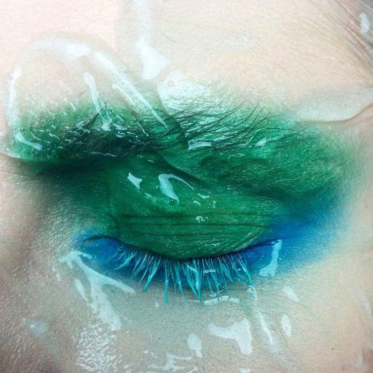 Green gel makeup Koki9