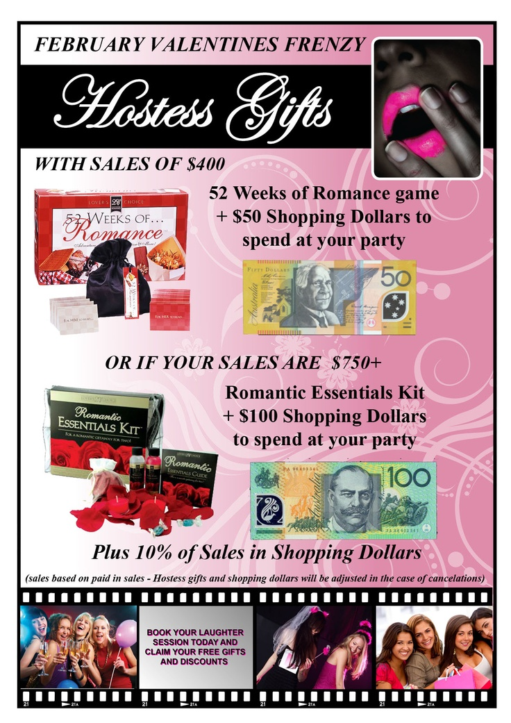 What better way to end the holidays than to book a party and treat yourself?  We have great hostess incentives for February including a romance pack your you and your valentine, upto $100 in shopping dollars plus 10% of your sales to spend!  Book yours in today with one of our friendly consultants, email enquiries@positivelypink.com.au for available dates.