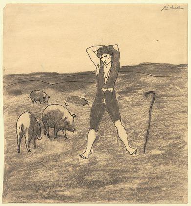 Pablo Picasso. The Swineherd. (1906)