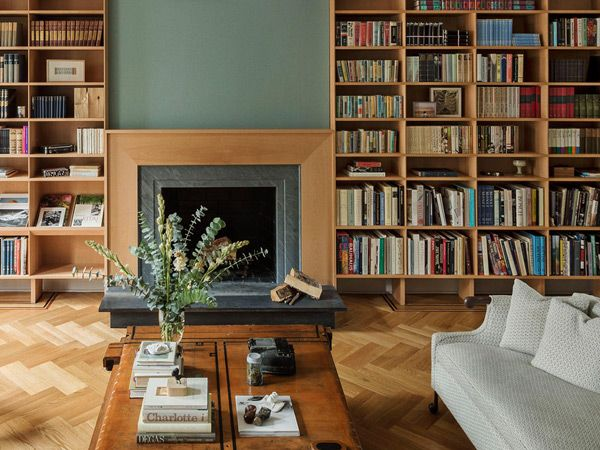for a recent project in boerum hill design studio workstead built a library of beech millwork outfitting it with locally designed