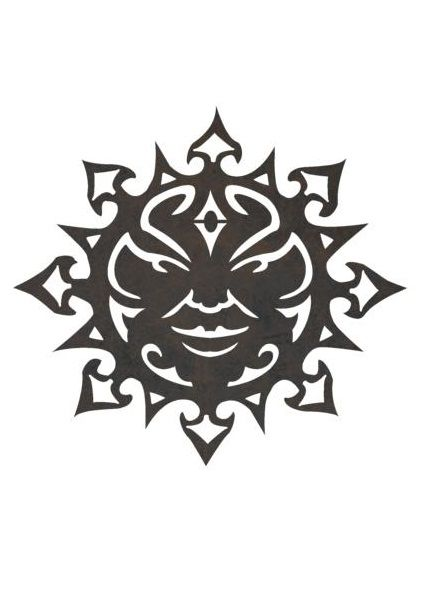 Sun Stock Art - Cut from metal with CNC. This DXF file is designed for CNC Plasma, Laser, or waterjet machines.