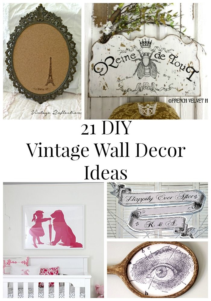 21 diy vintage wall decor ideas vintage walls graphics for Fairy mural ideas
