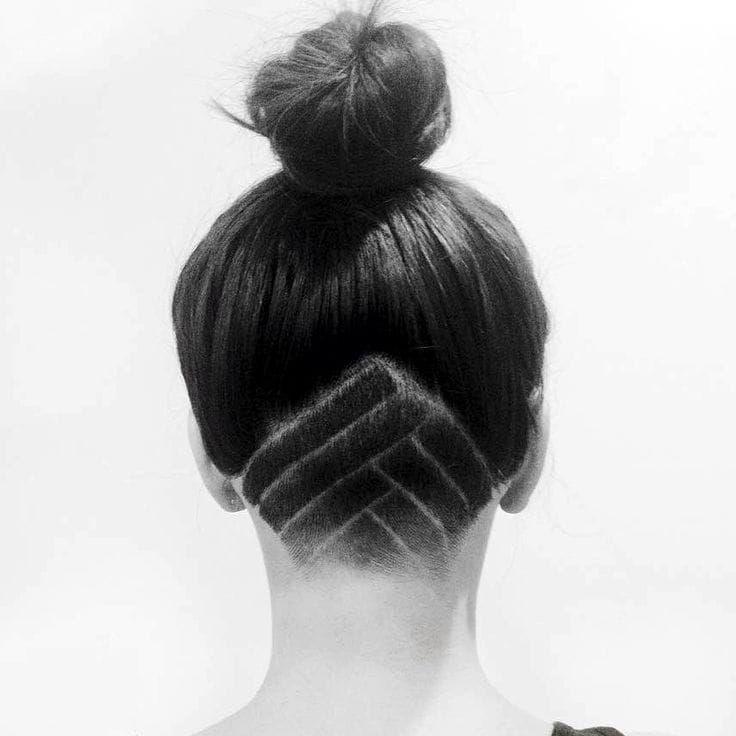 """Undercut Hair Tattoo under bun <a href=""""/p/?q=Undercut&hashtag_id=8706"""">#Undercut</a> <a href=""""/p/?q=Hair&hashtag_id=6917"""">#Hair</a> <a href=""""/p/?q=HairTattoo&hashtag_id=8707"""">#HairTattoo</a>"""