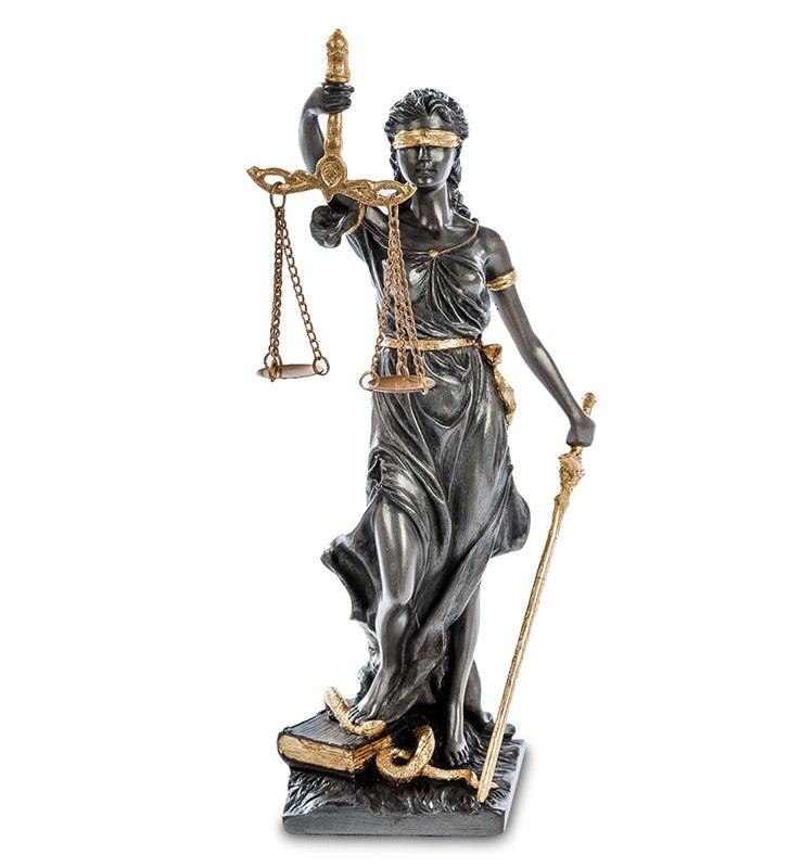 """Статуэтка """"Фемида - богиня правосудия"""" WS-655   Бренд: Veronese (Китай, о. Тайвань);      Страна производства: Китай;   Материал: полистоун;   Длина: 8 см;   Ширина: 6,5 см;   Высота: 18 см;   Вес: 0,23 кг;"""