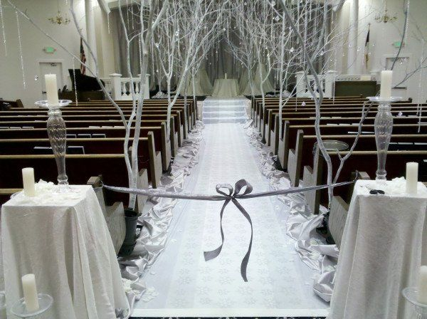 Love how the church has been turned into a romantic winter wonderland