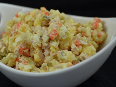 ... potato salad with russian potato salad or olivier or russian salad