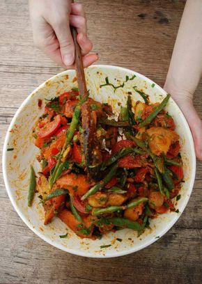 Sweet potato, green bean and smoked paprika salad | Design*Sponge......vegan.
