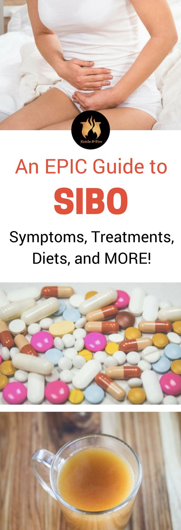 An epic guide to SIBO - causes of SIBO, symptoms of SIBO, Supplements for SIBO, and how bone broth can help you overcome SIBO