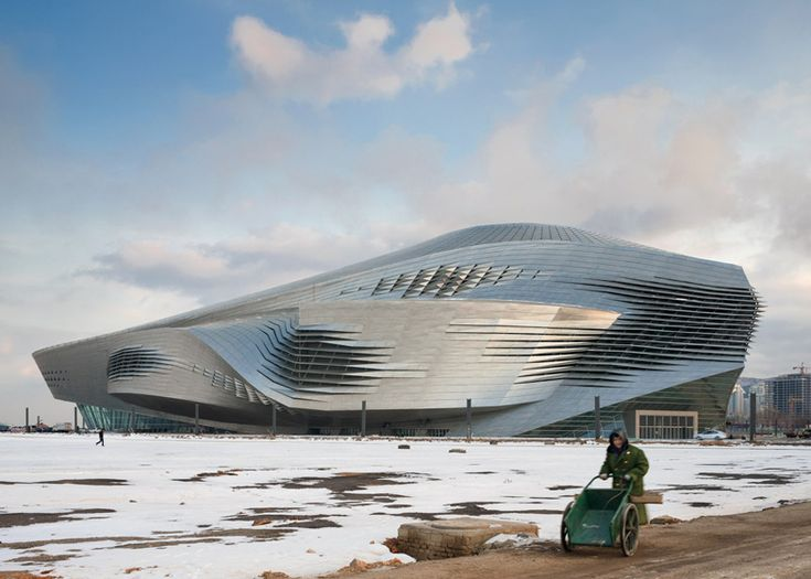 contorted steel conference centre / theatre / concert hall in China by Coop Himmelb(l)au via @Dezeen magazine