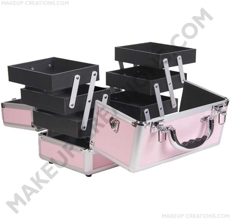 Cosmetic Train Case - Baby Pink