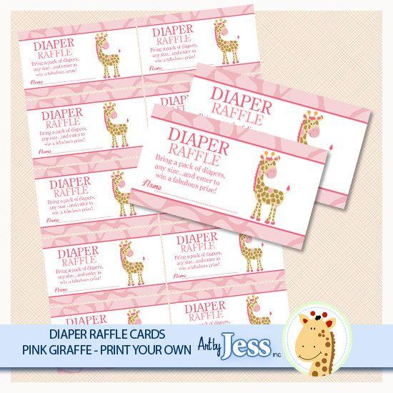 Jungle Jill Pink Giraffe Baby Shower Raffle by AllPetsCherished, $4.00