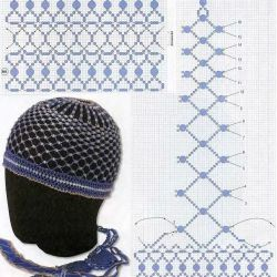 hatBead, Beads Cap, Шапочка Из, Blue Beads, Beads Hands, Бисера Tutorials, Beads Business, Красивая Шапочка