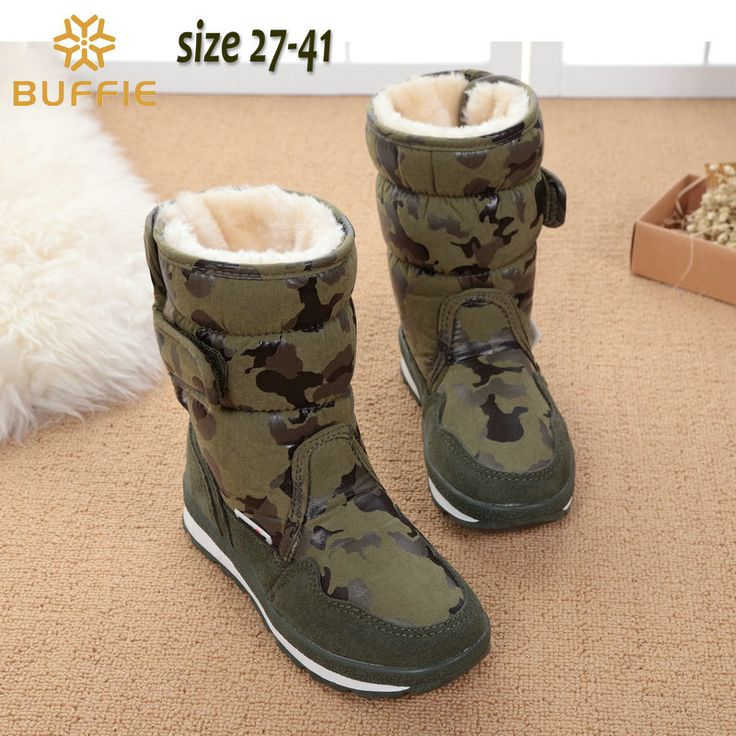 children's shoes camouflage boys winter boots girls waterproof kids winter boots warm fur lining fashion popular brand snow boot #>=#>=#>=#>=#> Click on the pin to check out discount price, color, size, shipping, etc. Save and like it!