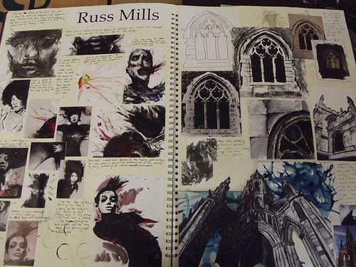 AS FINE ART SKETCHBOOKS EBE | Monks Dyke Tennyson College, Lincolnshire | Flickr
