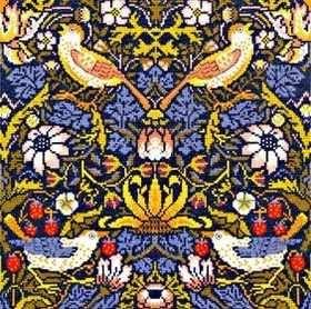 Strawberry Thief  (William Morris)  Cross Stitch by Bothy Threads