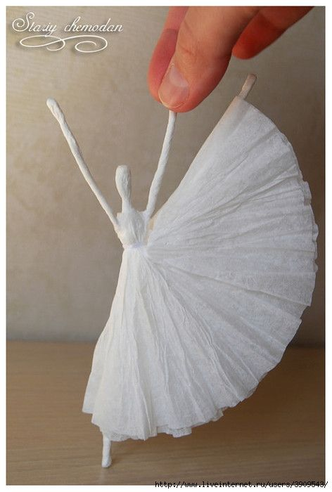 Paper Ballerina made with Napkins
