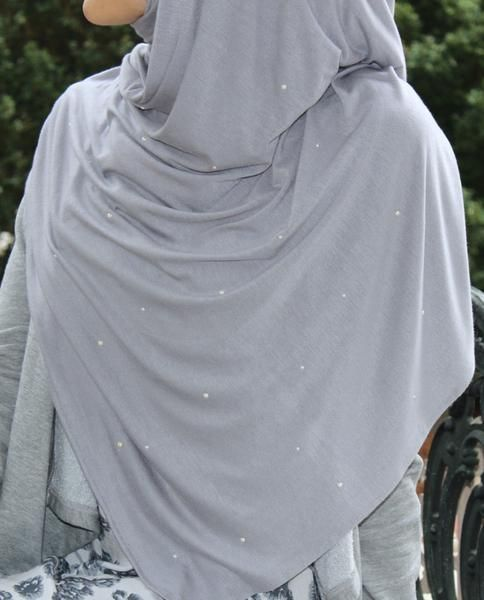 """""""Pearls All Over"""" Jersey Hijab - The Hijab City"""