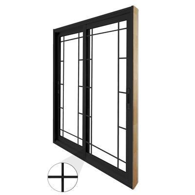 Stanley Doors   Double Sliding Patio Door   Prairie Style Internal Grill    6 Foot /