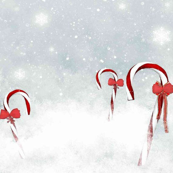 Christmas crutches 8ft x 8ft Backdrop Computer Printed