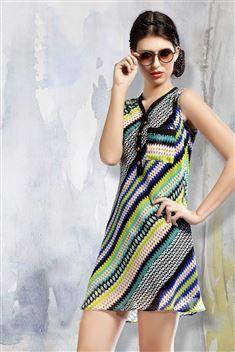 Multi colcor Casual Wear Printed Georgette Kurti