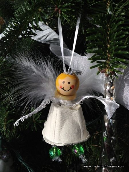 Angel Christmas Craft Made from an Egg Carton
