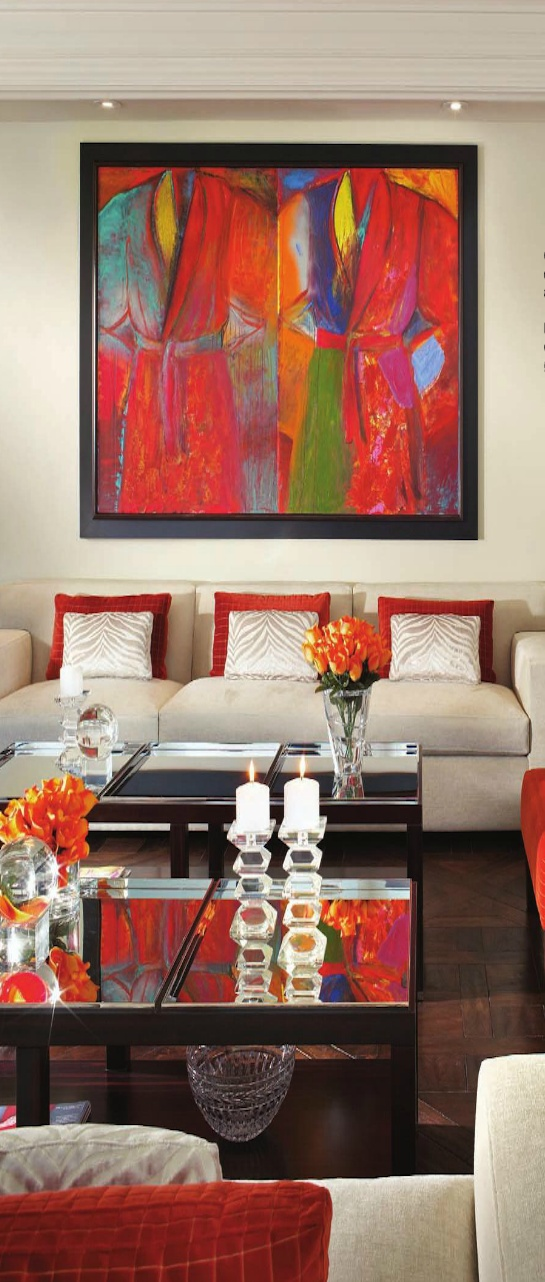 A living room that s primarily neutral but not at all boring thanks to the  dynamic art piece and the red accents throughout   V. 17 Best ideas about Beige Living Rooms on Pinterest   Design of
