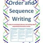 Handouts and worksheets on transitional phrases  Transitional phrases to show order, sequence and time 20 journal prompts and journal pages Writin...