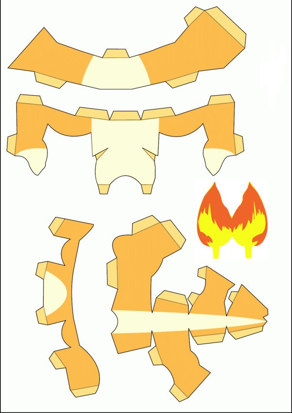 Pokemon papercraft templates 1 691 paper 3d for Pokemon templates print