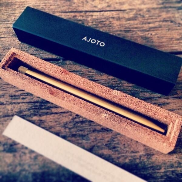 TWITTER: Love the beautiful brass @AJOTO pen courtesy of @JesSalter #birthdaytime - Zaplyng (@Zaplyng)