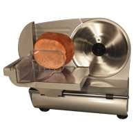 """9in Electric Meat Slicer (Item #698101) The Weston Brand Heavy Duty 9"""" food slicer features a high quality removable stainless steel blade, powered by a rugged quiet running motor that slices through all of your vegetables and meats quickly, safely and easily! Price:US$159.99"""