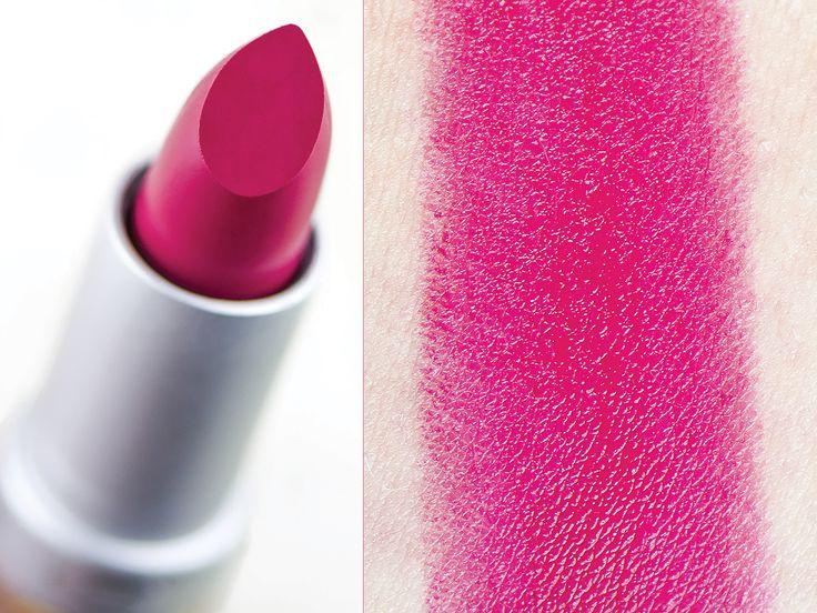 Rouge à lèvres brillant bio Couleur Caramel - Teinte Fuchsia (262) - Gros plan du raisin et swatch