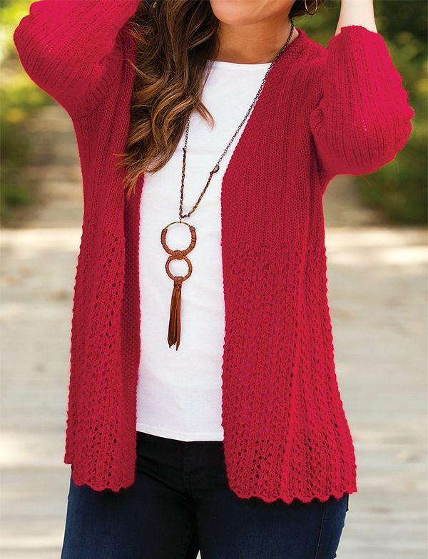 be9d75d98 Scarlet Skies Cardigan Knitting Pattern on sale - Easy lace cascades ...